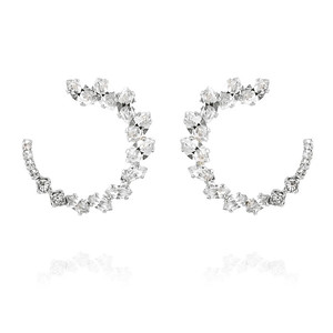 Angie Earrings / Crystal Rhodium