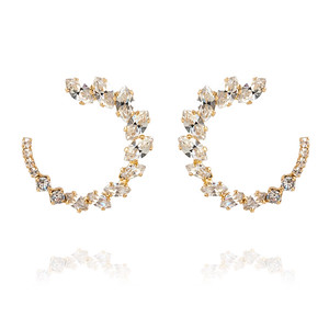 Angie Earrings / Crystal Gold