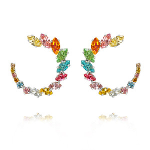 Angie Earrings / Rainbow Combo Rhodium