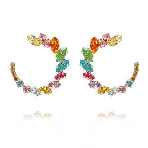 Angie Earrings / Rainbow Combo Rhodium