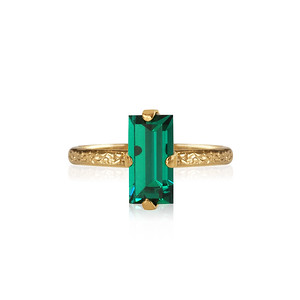 Baguette Ring / Emerald Gold