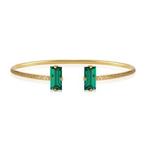 Baguette Bracelet / Emerald Gold