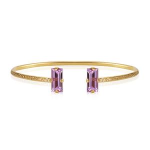 Baguette Bracelet / Violet Gold