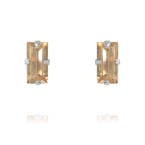 Baguette Earrings / Golden Shadow Rhodium