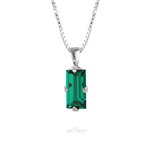 Baguette Necklace / Emerald Rhodium