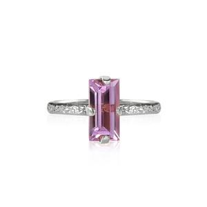 Baguette Ring / Violet Rhodium
