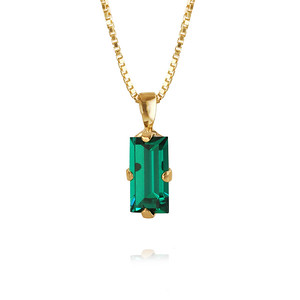 Baguette Necklace / Emerald Gold