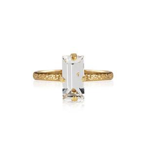 Baguette Ring / Crystal Gold
