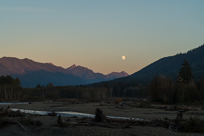 Moon Rise on Hoh River