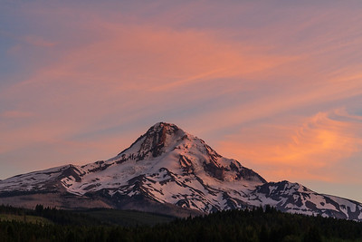 Alpenglow, Mt. Hood Oregon