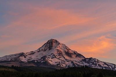 Alpenglow, Mt. Hood Oregon