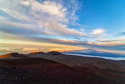 Sunset, Mauna Kea Volcano