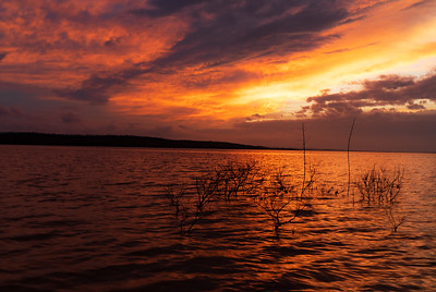 Sundown, Lake Wister Oklahoma