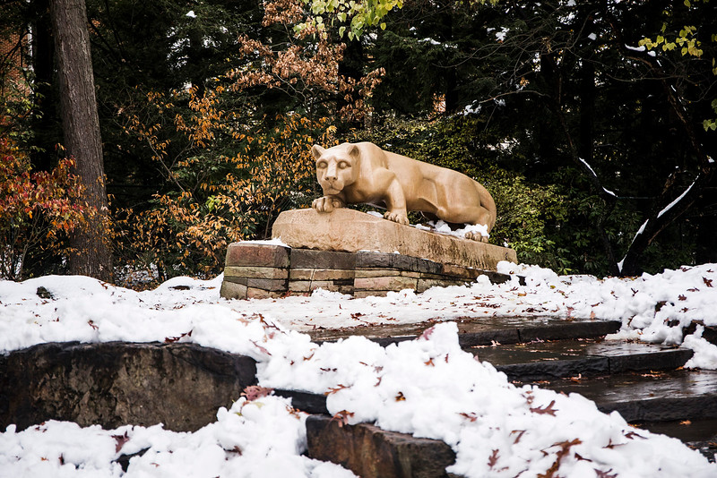Early snow at the Lion Shrine