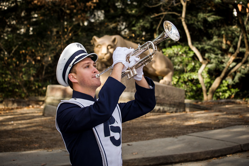 Blue Band senior at Lion Shrine