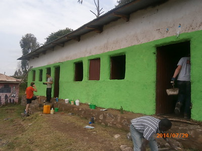 World Challenge Team At Addis Alem Elementary School