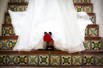 """My Louboutins"" Killer Wedding Shoes"