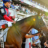 Tonalist gets a thumbs-up before winning the Belmont Stakes