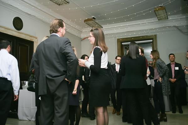 The exhibit reception
