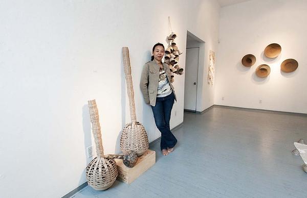 is exhibiting her work