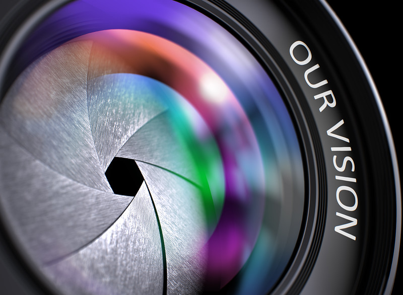Our Vision Concept on Front Glass of Camera Lens.