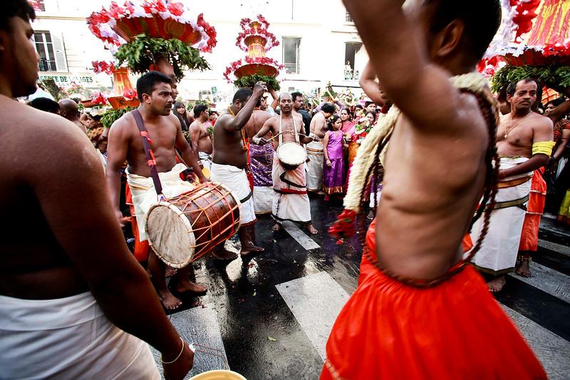 Ganesh celebration, rue Pajol