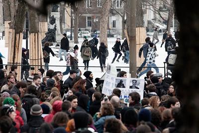 Manifestation en faveur des etudes universitaires gratuites