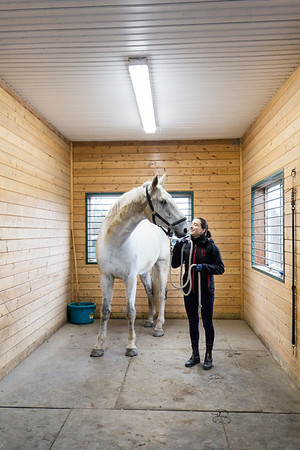Melodie Gerbier-Violleau, lead instructor at the Richmond Therapeutic Riding Association