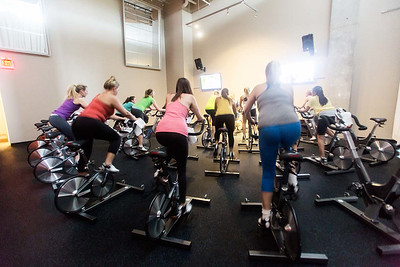 Spin class with Shannon + eating to destress with Vega