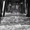 Pier Wave (Black and White)