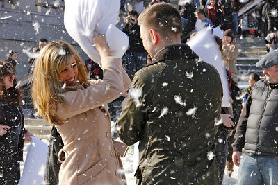 International World Pillow Fight day, Trafalgar Sq