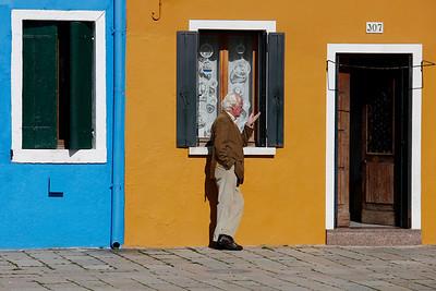 Thinking aloud, Burano, Venice