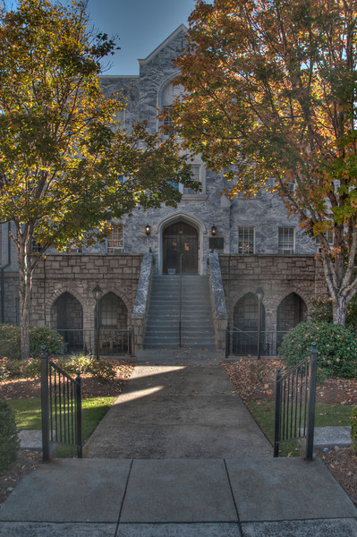 """<h3 style=""""text-align: left;""""><strong>Today's Photo:  First Baptist Church Marietta</strong></h3> <strong></strong>A few weeks ago, I made it back through downtown Marietta for a few minutes.  While I was there, I took some shots from a <a title=""""A Church in Marietta"""" href=""""http://justshootingmemories.com/2012/04/22/a-church-in-marietta/"""" target=""""_blank"""">church</a> that I failed to get the name of.  Well, it is the First Baptist Church of Marietta.  It is a rather large church and has tons of details.  I could spend hours there taking photos.  This is of a little courtyard in between two of the larger buildings."""