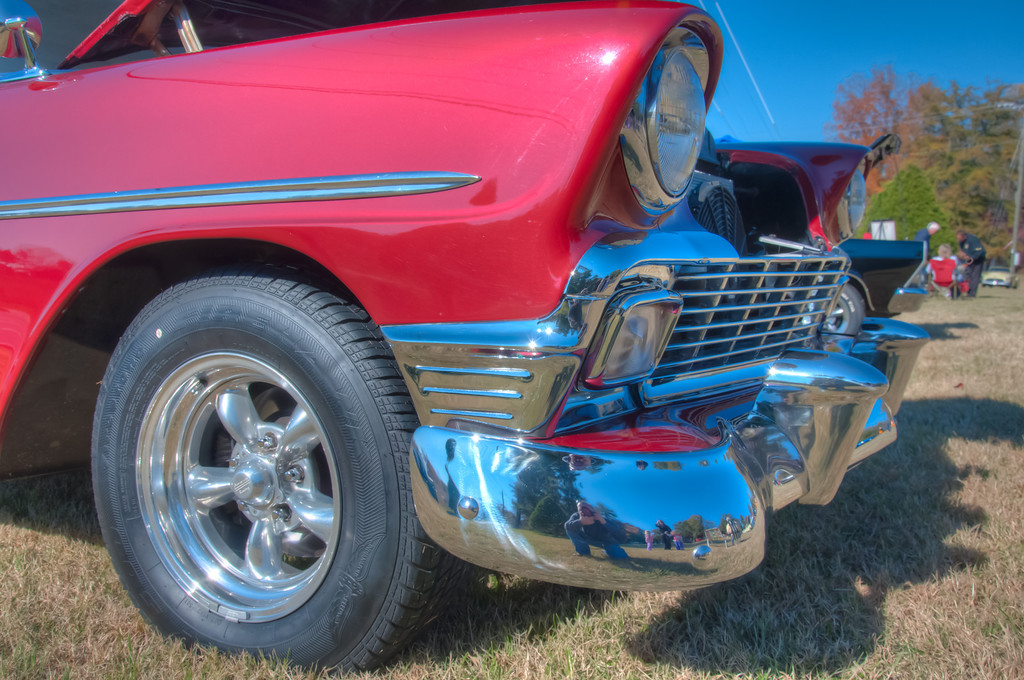 """<h3><strong>Today's Photo: Chromed</strong></h3> I have to say, Chrome is a photographers second best friend, or at least somewhere near the top. I have found one of the best places to find chrome has to be at the car show. Everywhere I looked at this one, there was wonderful chrome just waiting for a good self portrait. I was able to get a fairly descent family portrait out of this one. Don't tell my wife and kids.  Read more at the <a href=""""http://justshootingmemories.com"""" rel=""""nofollow"""">Daily Photography Blog</a> Just Shooting Memories!..."""