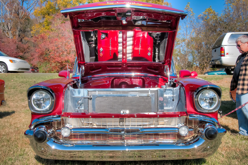 """<h3><strong>Today's Photo: The Engine</strong></h3> It is amazing the amount of work that is put into some of these classic cars. Most of the '57 Chevy and some of the others have Corvette engines in them. This was one of the most unique cars I saw at a local car show. In fact, this is one of the most unique I have seen at any of them I have been to. Surely, I don't have to point out the pretty mirrored underside of the hood. Just imagine the g-force this could bring to bear pushing you back into the seat.  Read more at the <a href=""""http://justshootingmemories.com"""" rel=""""nofollow"""">Daily Photography Blog</a> Just Shooting Memories!..."""
