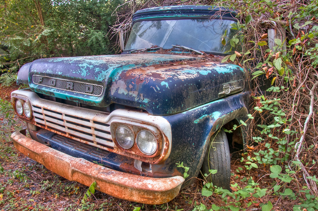 """<h3><strong>Today's Photo: The Old Truck</strong></h3> There's nothing like a truck. Everyone should have one. They are good for so many things. I think that is why this photo bothers me so much. This truck has seen better days. I guess it's load got to it.  I found it parked nice and neat at Old Car City USA. Don't let the name fool you. It's a glorified junk yard. However, for someone like me, it is tons of fun. With miles of trails winding between old cars like this, there are lots of photographic opportunities.  Read more at the <a href=""""http://justshootingmemories.com"""">Daily Photography Blog</a> Just Shooting Memories!..."""