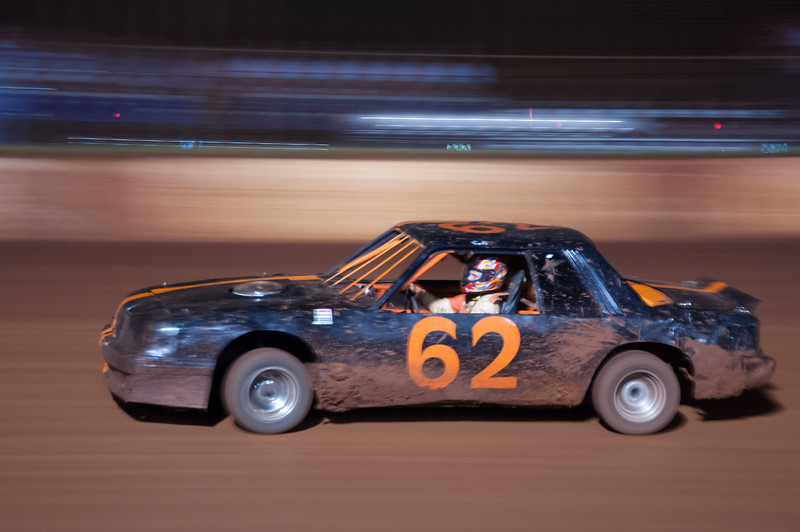 """<h3><strong>Today's Photo: Racin'</strong></h3> My nephew raced this past weekend at both Dixie Speedway and Rome Speedway. He placed tenth andeighth. I was not able to go, but I got this the last time I went to Dixie. I had tons of fun trying to capture the car just the way I wanted and still show the speed they were traveling. I guess I am going to get plenty of practice.  Read more at the <a href=""""http://justshootingmemories.com"""">Daily Photography Blog</a> Just Shooting Memories!..."""