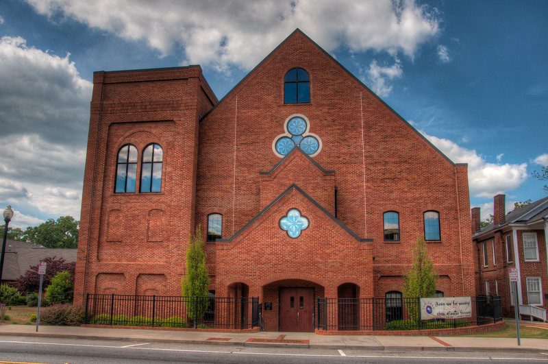 "<h3><strong>Today's Photo:  A Different Church Building</strong></h3> Today is another round in the Churches theme, but with a little bit of a twist.  I have found several churches over the years that have several different buildings that happen to be photogenic.  The <a title=""First Presbyterian Church of Cartersville"" href=""http://justshootingmemories.com/2012/04/15/first-presbyterian-church-of-cartersville/"">First Presbyterian Church of Cartersville</a> is one of those.  In fact, this building follows the architecture of the other very closely.  I took these photos the same day I visited the Tellus museum for the first time.  That was a busy day.  I seem to be having too many of those lately.  Read more at the <a href=""http://justshootingmemories.com"">Daily Photography Blog</a> Just Shooting Memories!..."