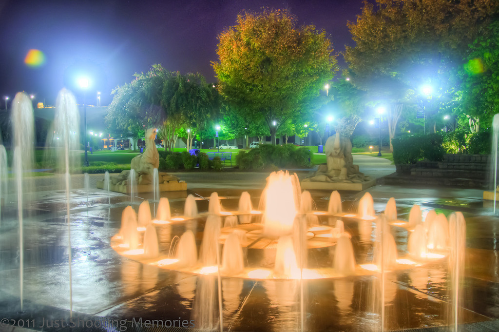 "<h3><strong>Today's Photo:  The Fountain in Coolidge Park</strong></h3> I like water.  If I had grown up with a pool, I would have probably been a competition swimmer.  But, I did not.  However, I had the good fortune to learn both how to kayak, the whitewater version, and scuba dive at 12 years old.  That was a lifetime ago.  So when I get to see anything water, whether it is a waterfall or a fountain, I feel right at home.  With the heat already moving in for the summer, and it's not even far into spring, this looks so inviting.  Read more at the <a href=""http://justshootingmemories.com"">Daily Photography Blog</a> Just Shooting Memories!..."