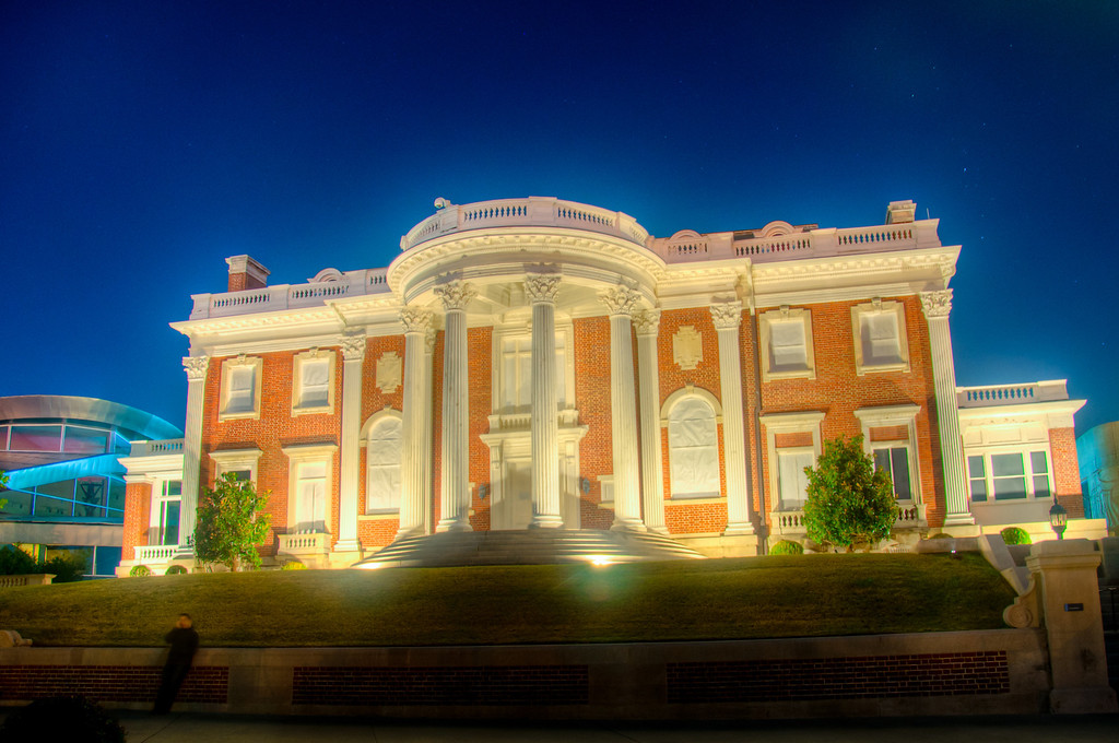 """<h3><strong>Today's Photo: The Hunter at Night</strong></h3> One of the most interesting buildings in Chattanooga is the Hunter Museum. It is comprised of three different and distinct architectural styles. I think my favorite has to be the Plantation house which makes up the center of the building. I got this shot last fall after having a great cup of coffee atRembrandts. If you like coffee, it is one of the best coffee houses I have been to.  Read more at the <a href=""""http://justshootingmemories.com"""">Daily Photography Blog</a> Just Shooting Memories!..."""