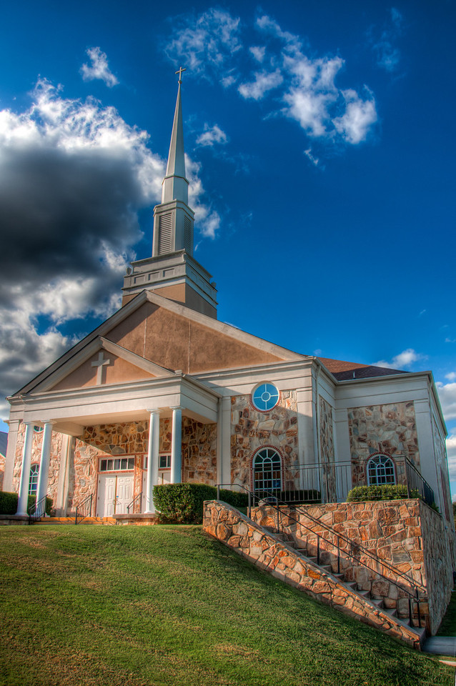 "<h3><strong>Today's Photo:  Sonoraville Baptist</strong></h3> Continuing with the Sunday church series, this is Sonaraville Baptist church.  This was one of the first churches I photographed.  Of course it was during one of those drives where I had to make a sudden turn around among many exclamations from my wife.  She let up a little when she saw what I was going to take photos of this time.  Read more at the <a href=""http://justshootingmemories.com"">Daily Photography Blog</a> Just Shooting Memories!..."