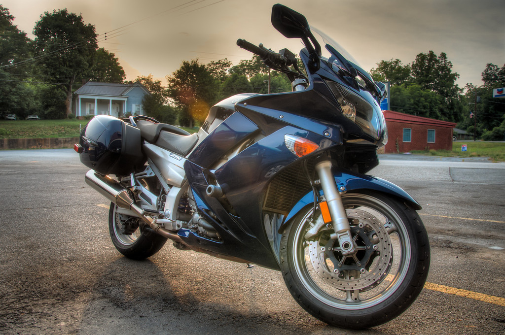 "<h3><strong>Today's Photo:  Yamaha FJR</strong></h3> Every once in a while, I run up on a cool car or motorcycle when I am out an about.  My favorite seem to be motorcycle, especially <a title=""Chopper"" href=""http://justshootingmemories.com/2011/06/14/chopper/"">Choppers</a>.  However, just about any will do.  I guess motorcycle owners are pretty much like classic car owners.  They usually keep their bikes immaculately clean.  When you take photos with the intent of making an HDR, you get details that you would not normally see.  Not only do you get to frame the vehicle, you get to frame the reflections as well.  Read more at the <a href=""http://justshootingmemories.com"">Daily Photography Blog</a> Just Shooting Memories!..."