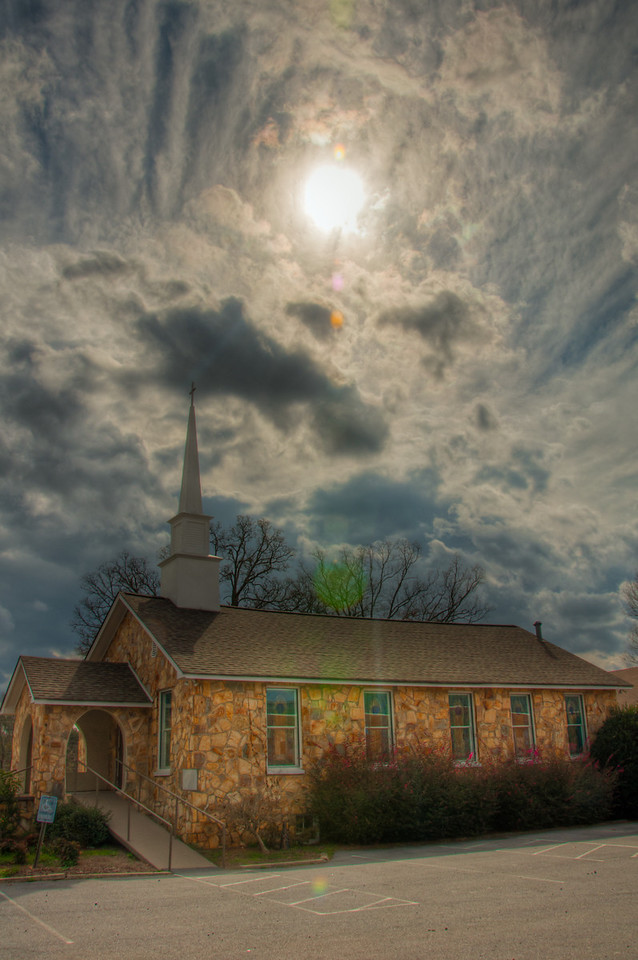 """<h3><strong>Today's Photo: White United Methodist Church</strong></h3> What is it with the weather this year? In the south, there was no snow, 70+ degree days and now that it is March we are already in the 80's. I guess we can look forward to numerous 100+ days this year. At least it has given rise to some good rain, which means some good clouds too. I caught this one while travelling Highway 411 in White Georgia.  Read more at the <a href=""""http://justshootingmemories.com"""">Daily Photography Blog</a> Just Shooting Memories!..."""