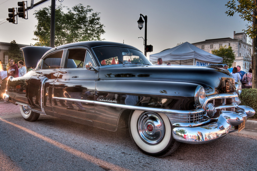"<h3><strong>Today's Photo:  1950's Cadillac Sedan</strong></h3> Another shot from my adventures at First Friday in Canton.  Depending on how things go, I may end up there for this months First Friday as well.  When I first saw this, I thought of Doc from the Disney movie Cars.  I have been looking for a good car that I can use for Doc.  One day, I am going to find an actual Hudson Hornet.  Until then, I shall continue to visit these shows on that quest.  Read more at the <a href=""http://justshootingmemories.com"">Daily Photography Blog</a> Just Shooting Memories!..."