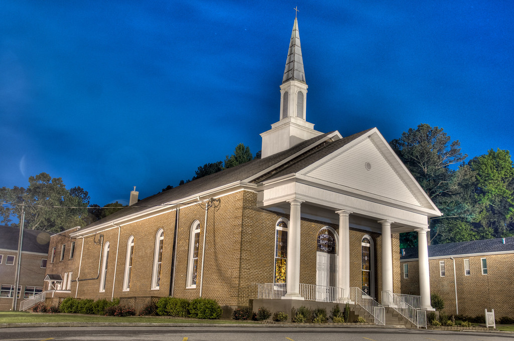 "<h3><strong>Today's Photo:  Acworth First Baptist</strong></h3> I grew up in a small town in Georgia called Acworth.  Well, it used to be small.  The family and I went to eat at a fabulous Cajun restaurant in downtown the other night called Henry's.  I wanted to get there early so I could get the blue hour right after sunset and a little once the sun was down.  Unfortunately, things did not work out that way and I got to go after dinner.  On the way out of town, we stopped by Acworth First Baptist.  This was the church I grew up in.  In fact, my kids could not believe I went to preschool there.  I reserved the right to not tell how long ago that way.  Read more at the <a href=""http://justshootingmemories.com"">Daily Photography Blog</a> Just Shooting Memories!..."