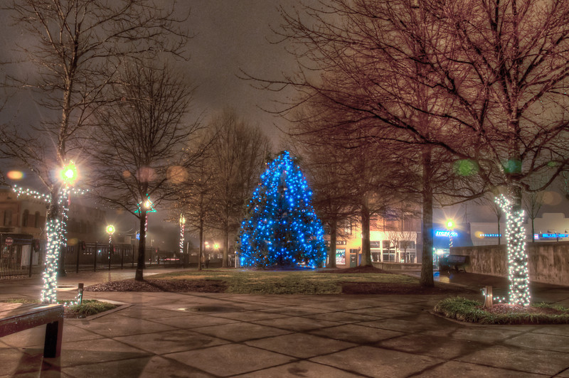 """<h3 style=""""text-align: left;""""><strong>Today's Photo:  Christmas Lights</strong></h3> <strong></strong>It's almost time for Christmas lights again.  Has it been that long already?  I shot this Christmas night last year in downtown Cartersville.  This year, I was thinking of trying the Atlanta Botanical Gardens """"Garden Lights"""" or maybe one of the local drive thru light displays.  I'm just worried that I will not have enough time to shoot if we are driving through."""