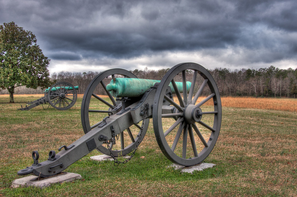 """<h3><strong>Today's Photo: Swett's Battery</strong></h3> Chickamauga Battlefield has to be one of the most interesting I have visited. It is also one of the oldest of the National Battlefield Parks. As I walked around, there were markers for where certain units were at given points in the battles. This battery position happened to be near the evening of September 20, 1863 and resulted in a retreat with one gun lost, but then the gun was recovered later. I enjoyed getting to visit this park on such an ominous day. It gave a feel to the air of the great struggles that happened here and all over the United States during the War.  Read more at the <a href=""""http://justshootingmemories.com"""">Daily Photography Blog</a> Just Shooting Memories!..."""