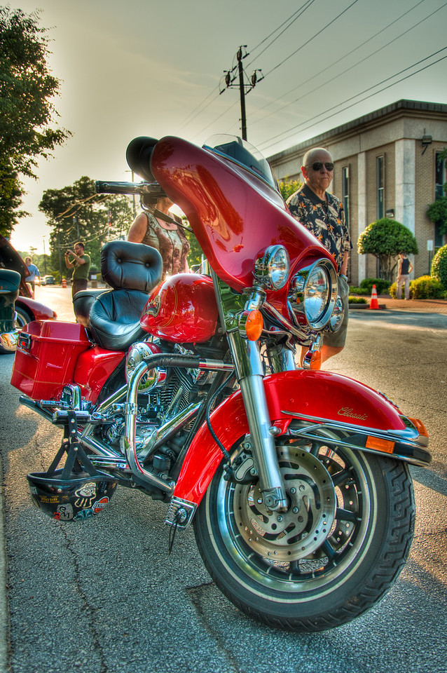 "<h3><strong>Today's Photo:  The Classic</strong></h3> I am even less of a motorcycle person than I am a car person.  However, I could change that very easily if I got to see more bikes.  I found this one at First Friday in Canton.  The owner was really cool and even offered to let the girls sit on it.  I was really disappointed when they refused and hid behind me.  I wish there had been just a little less foot traffic so I could have gotten a clean background.  Hopefully I can find more motorcycles like this or the <a title=""Chopper"" href=""http://justshootingmemories.com/2011/06/14/chopper/"">Chopper</a> I found before.  Read more at the <a href=""http://justshootingmemories.com"">Daily Photography Blog</a> Just Shooting Memories!..."