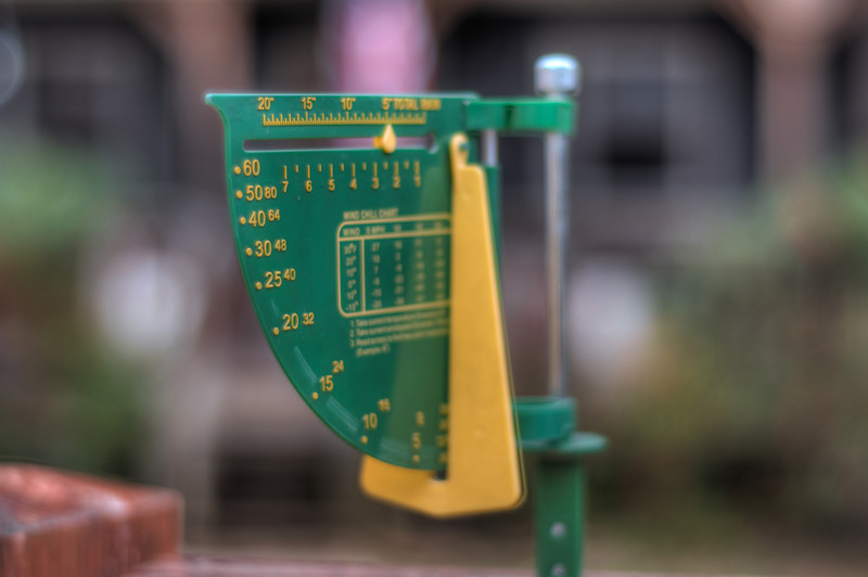 """<h3 style=""""text-align: left;""""><strong>Today's Photo:  The Rain Gauge</strong></h3> <strong></strong>In the Southeast, rain is hit or miss.  However, it is usually not too long between rains.  We get enough rain though that a good rain gauge is essential, especially when you have a garden.  Fortunately, this year we have gotten enough rain to make the garden grow.  I took several photos of it and need to post them.  Read more at the <a href=""""http://justshootingmemories.com"""">Daily Photography Blog</a> Just Shooting Memories!..."""