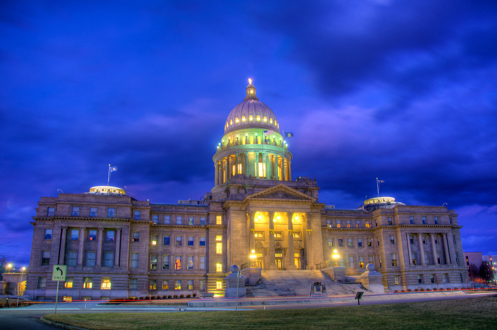 """<h3><strong>Today's Photo: Idaho State Capital</strong></h3> I spent a couple of days in Boise Idaho this past week. I was able to sneak in a few hours of photography both downtown and in the mountains. I did a little research before leaving and was hoping to get a shot of the capital building. I was blessed with a beautiful sunset just as I arrived downtown and it was still in the throes of the blue hour when I finally got to the capital. Traffic was kinda busy, so I had to wait a little while to get this shot.  Read more at the <a href=""""http://justshootingmemories.com"""">Daily Photography Blog</a> Just Shooting Memories!..."""
